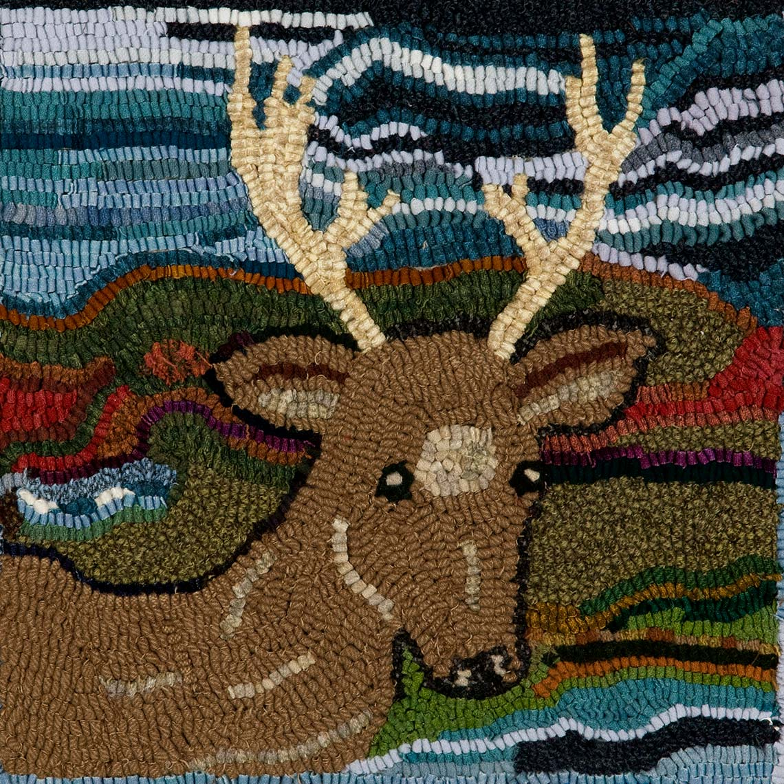 Sue Gallion pine moon fine art wool hooker elk steamboat springs colorado