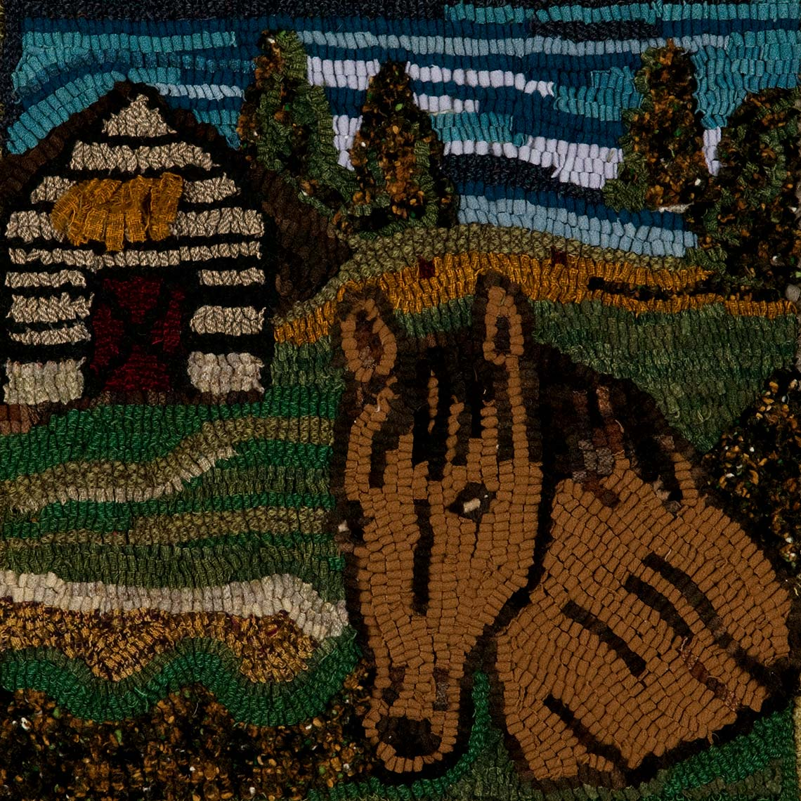 Sue Gallion pine moon fine art wool hooker horse steamboat springs colorado