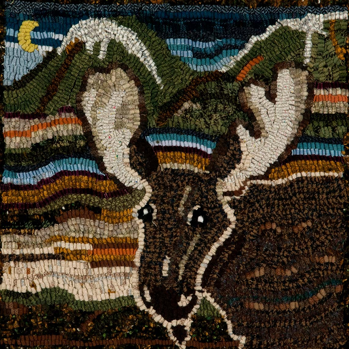 Sue Gallion pine moon fine art wool hooker animals steamboat springs colorado
