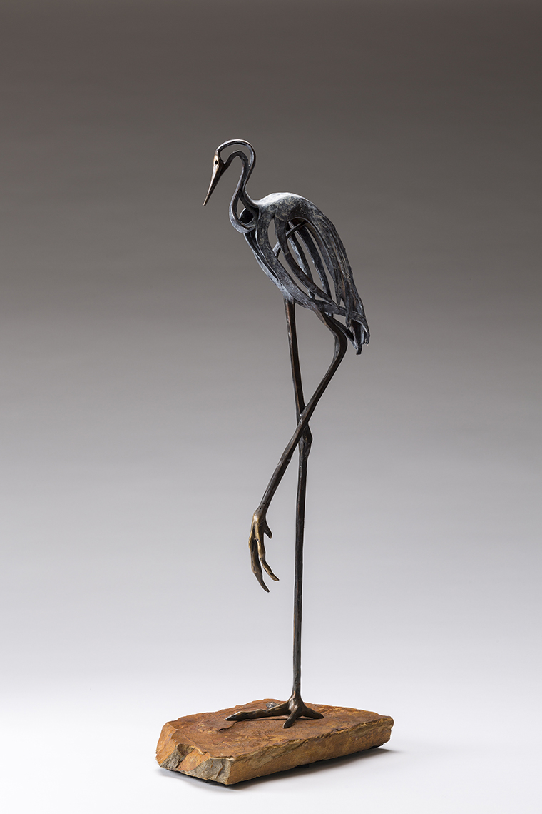 pine moon fine art Sandy Graves Bronze sculpture steamboat springs colorado tango crane